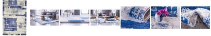 Bridgeport Home Wisdom Wis4 Navy Blue 4' x 6' Area Rug