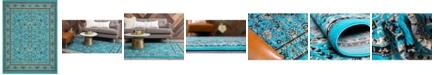 "Bridgeport Home Arnav Arn1 Turquoise 9' 10"" x 13' Area Rug"