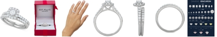Macy's Diamond Halo Bridal Set (1 ct. t.w.) in 14k White, Yellow or Rose Gold
