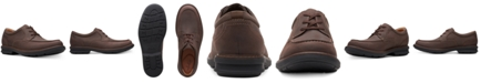 Clarks Men's Rendell Walk Dark Brown Leather Casual Lace-Up Shoes