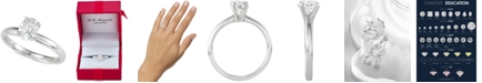 Macy's Diamond Oval Solitaire Engagement Ring (1 ct. t.w.) in 14k White or Yellow Gold
