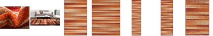 Bridgeport Home Jasia Jas12 Rust Red Area Rug Collection