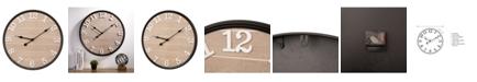 Glitzhome Farmhouse Metal and Wooden Wall Clock