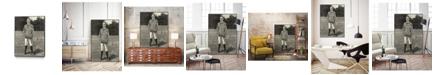"Giant Art 32"" x 24"" Harpers Weekly Tennis III Art Block Framed Canvas"