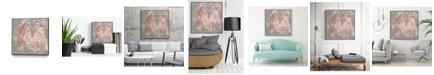 "Giant Art 20"" x 20"" Blush Kinesis I Art Block Framed Canvas"
