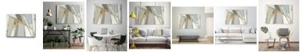 "Giant Art 28"" x 22"" Warm Geometric I Neutral Version Museum Mounted Canvas Print"