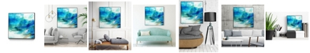 Giant Art Ephemeral Blue I Art Block Framed Canvas