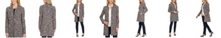 DKNY Striped Knit Suit Jacket