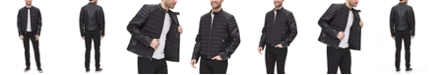 DKNY Mixed Media Quilted Racer Men's Jacket, Created for Macy's