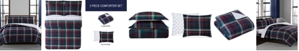 Pem America CLOSEOUT! Holiday Plaid 2-Pc. Reversible Twin Comforter Set, Created for Macy's
