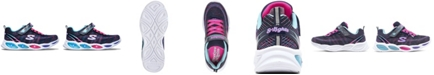 Skechers Little Girls S Lights Shimmer Beams Sparkle Glitz Light-Up Running Sneakers from Finish Line