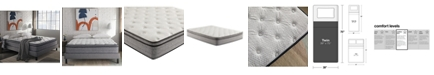 "Corsicana SleepInc 12"" Cushion Firm Hybrid Euro Top Mattress- Twin"