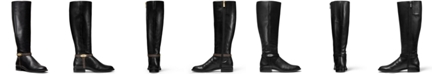 Michael Kors Finley Leather Riding Boots