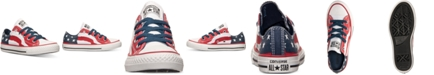 Converse Boys' Chuck Taylor Ox Flag Print Casual Sneakers from Finish Line