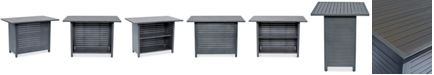 "Furniture CLOSEOUT! Marlough Aluminum 52"" x 32"" Outdoor Bar Table, Created for Macy's"