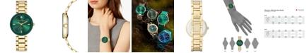 Anne Klein Women's Diamond-Accent Gold-Tone Bracelet Watch 32mm