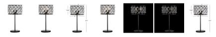 JONATHAN Y Gabrielle Metal/Crystal LED Table Lamp
