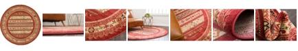 Bridgeport Home Ojas Oja4 Rust Red 6' x 6' Round Area Rug
