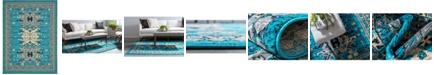 "Bridgeport Home Charvi Chr1 Turquoise 9' 10"" x 13' Area Rug"
