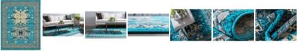 Bridgeport Home Charvi Chr1 Turquoise 8' x 10' Area Rug