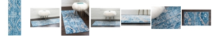 "Bridgeport Home Nira Nir2 Blue 2' 2"" x 6' Runner Area Rug"