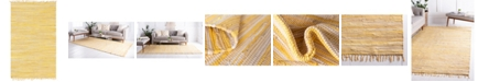Bridgeport Home Jari Striped Jar1 Yellow 5' x 8' Area Rug