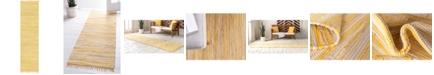 "Bridgeport Home Jari Striped Jar1 Yellow 2' 7"" x 9' 10"" Runner Area Rug"