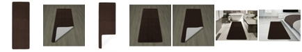 "Ottomanson Softy Collection Solid Non-Slip Kitchen/Bath Rug, 26"" x 72"""