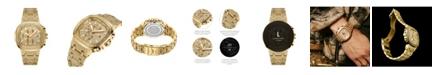Jbw Men's Diamond (1/5 ct. t.w.) Watch in 18k Gold-plated Stainless-steel Watch 48mm
