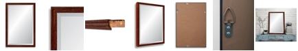 Reveal Frame & Decor Reveal Deep Farmhouse Worn Barn Red Beveled Wall Mirror