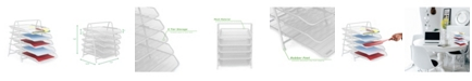Mind Reader 5 Tier Mesh Paper File Tray, Desk Organizer with 5 Sliding Trays