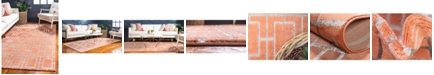 Marilyn Monroe Glam Mmg002 Coral/Silver 4' x 6' Area Rug