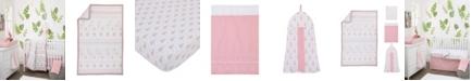 NoJo Tropical Flamingo 4-Piece Crib Bedding Set