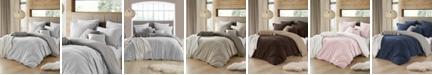 Cathay Home Inc. Ultra Soft Reversible Crinkle Duvet Cover Set - Full/Queen