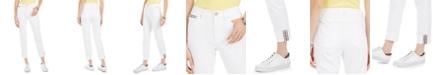Tommy Hilfiger Striped-Cuff Cropped Jeans
