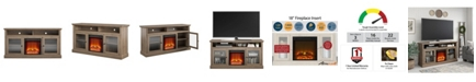 """A Design Studio Schroeder Creek Fireplace TV Stand for TVs up to 65"""""""