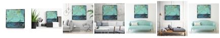 "Giant Art 30"" x 30"" Bay Marina II Art Block Framed Canvas"