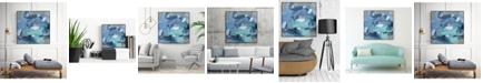 "Giant Art 30"" x 30"" Abstract Blues I Art Block Framed Canvas"