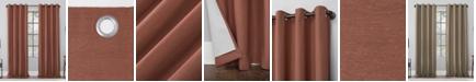 "Archaeo 52"" x 63"" Linen Blend Blackout Curtain Panel"