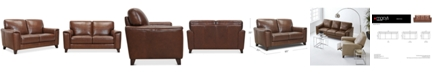 """Furniture Brayna 65"""" Leather Loveseat, Created for Macy's"""