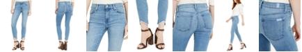 7 For All Mankind Ankle Skinny Wave Hem Jeans
