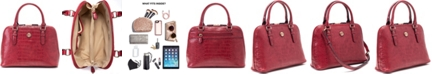 Giani Bernini Croc Dome Satchel, Created for Macy's