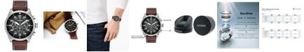 Citizen Men's Chronograph Eco-Drive Brown Leather Strap Watch 45mm CA4210-24E