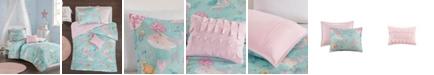 JLA Home Darya Full/Queen 4 Piece Printed Mermaid Comforter Set