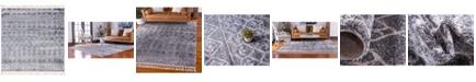 "Bridgeport Home Levia Lev1 Dark Gray 7' 7"" x 7' 7"" Square Area Rug"