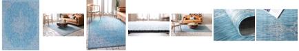 Bridgeport Home Pashio Pas8 Light Aqua 9' x 12' Area Rug