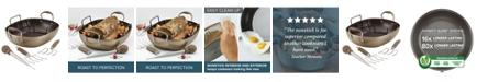 "Anolon Advanced Home Hard-Anodized 16"" x 13"" Nonstick Roaster Set"
