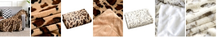 "Cheer Collection Animal Print 50"" x 60"" Reversible Throw Blanket"