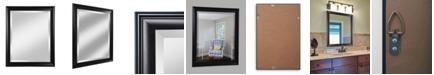 "Reveal Frame & Decor Alpine Symphony 28"" x 34"" Black Beveled Wall Mirror"