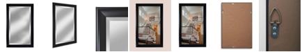 "Reveal Frame & Decor Alpine Symphony 26"" x 41"" Black Beveled Wall Mirror"